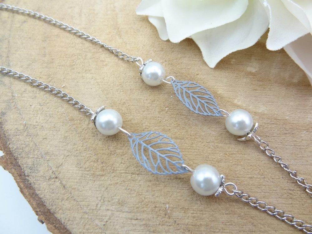 collier femme montre a gousset en métal argenté cabochon fleur de pissenlit