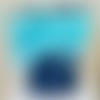 """La trousse """"plumes turquoise"""""""