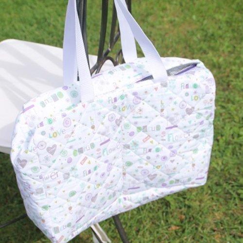Sac à langer en tissu matelassé oeko tek puériculture sac pour accessoires de bébé