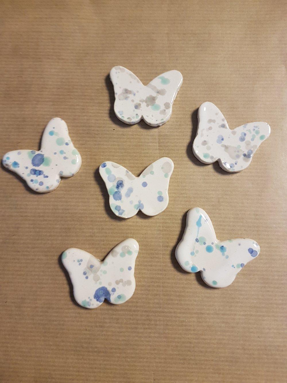 6 Cabochons Papillons