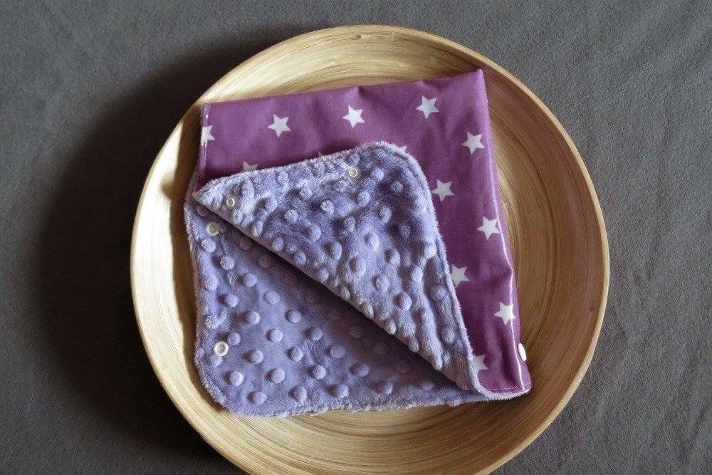 Manchon de poussette imperméable et chaud parme à étoiles