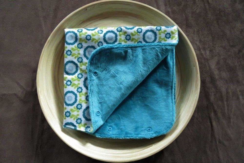 Manchon de poussette imperméable et chaud à fleurs turquoises et vertes