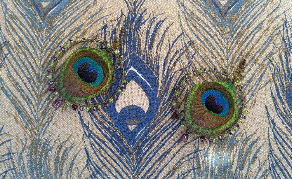 Boucles plumes de paon