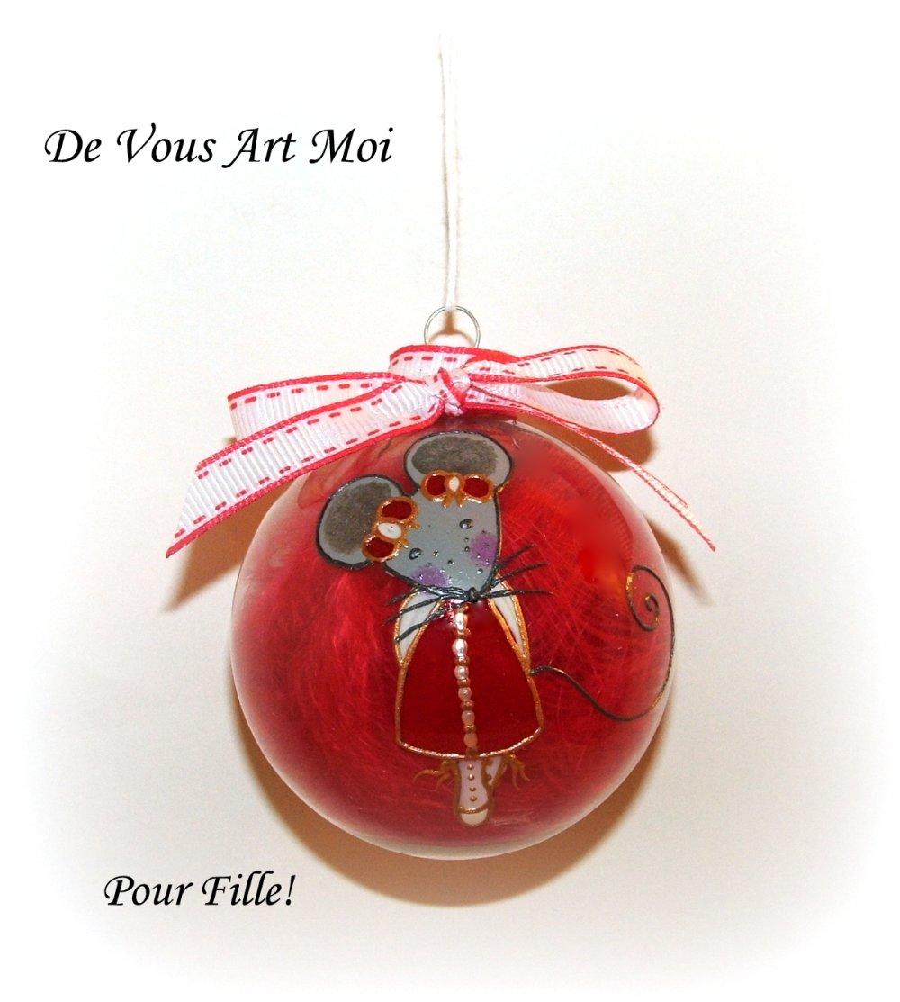 Boule Noël prénom personnalisée,Boule de Noël enfant verre,peinte main