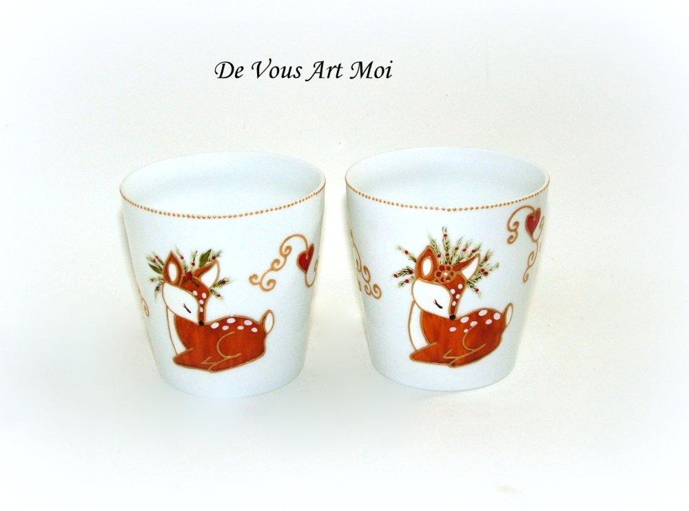 Photophores bougeoirs Noël porcelaine,porte bougie faon noël,fait main artisanal