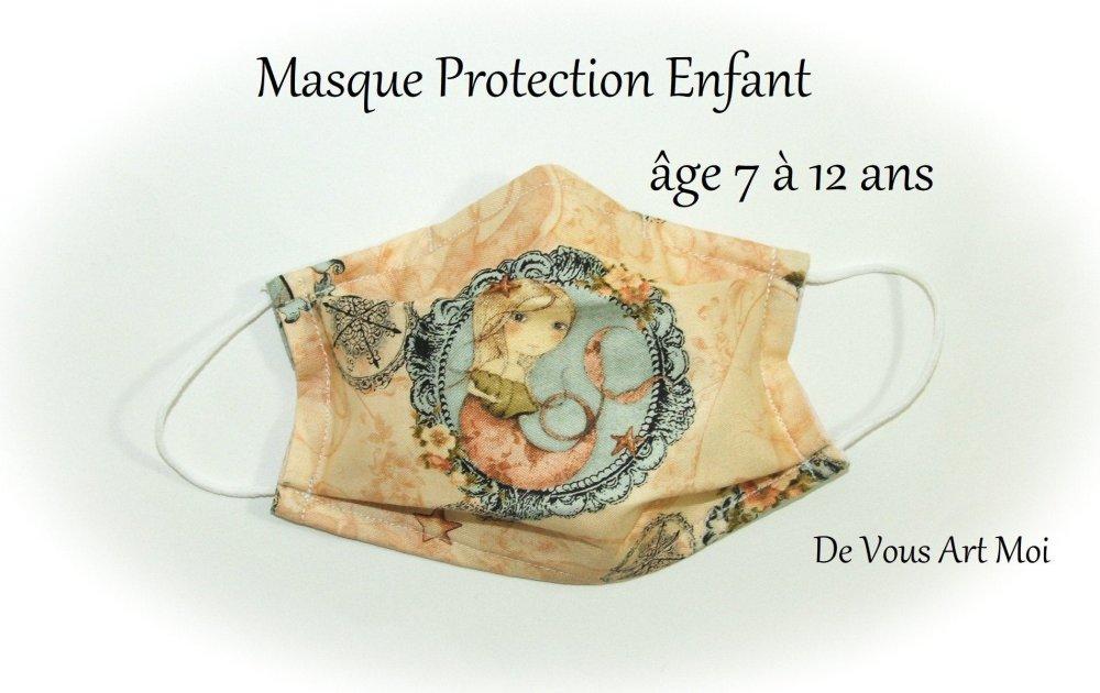 Masque barrière tissus enfant,masque protection fille lavable,masque protection visage enfant