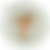 Boule premier noël prénom personnalisée,boule renard enfant noël,fait main,10cm,artisanale