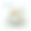 Boule personnalisée père noël,boule noël avec prénom,fait main,10cm,artisanale