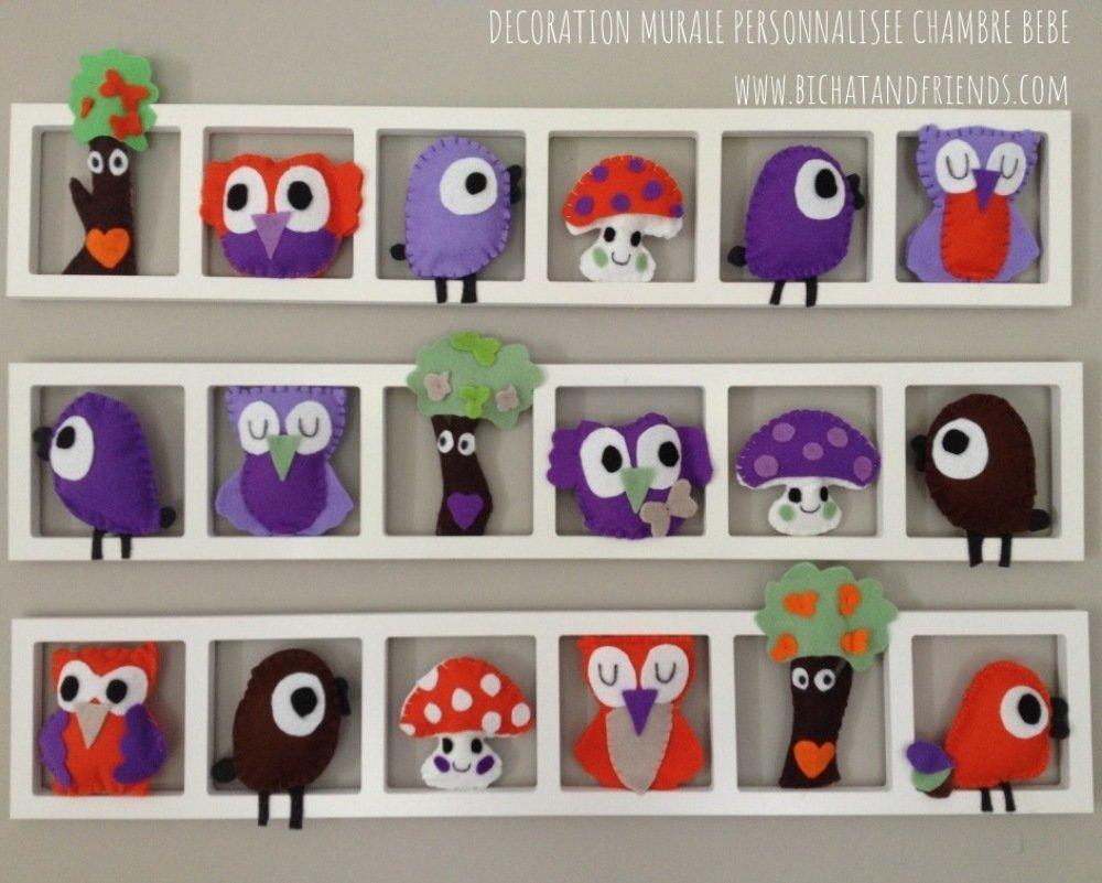 Décoration Mauve Et Gris idée décoration chambre enfant et bébé 'ballade dans les bois' , orange,  rose, gris, mauve, lila