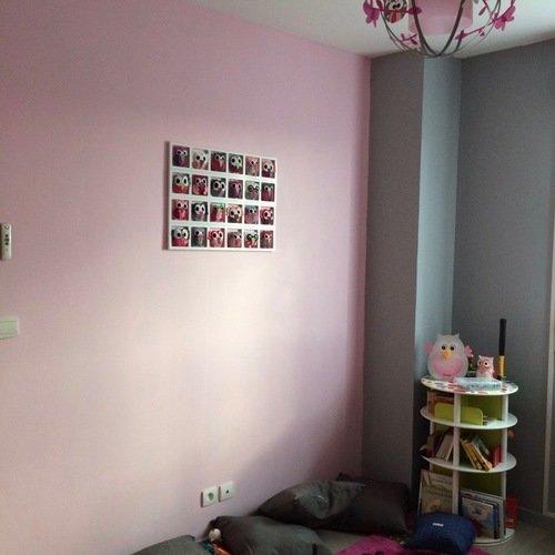 Idée décoration chambre enfant et bébé \'ballade dans les bois\' , orange,  rose, gris, mauve, lila