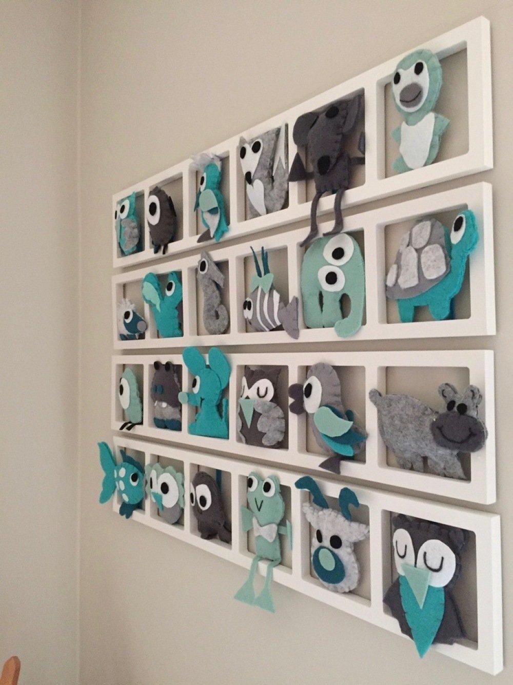 deco originale chambre bébé - gris et turquoise