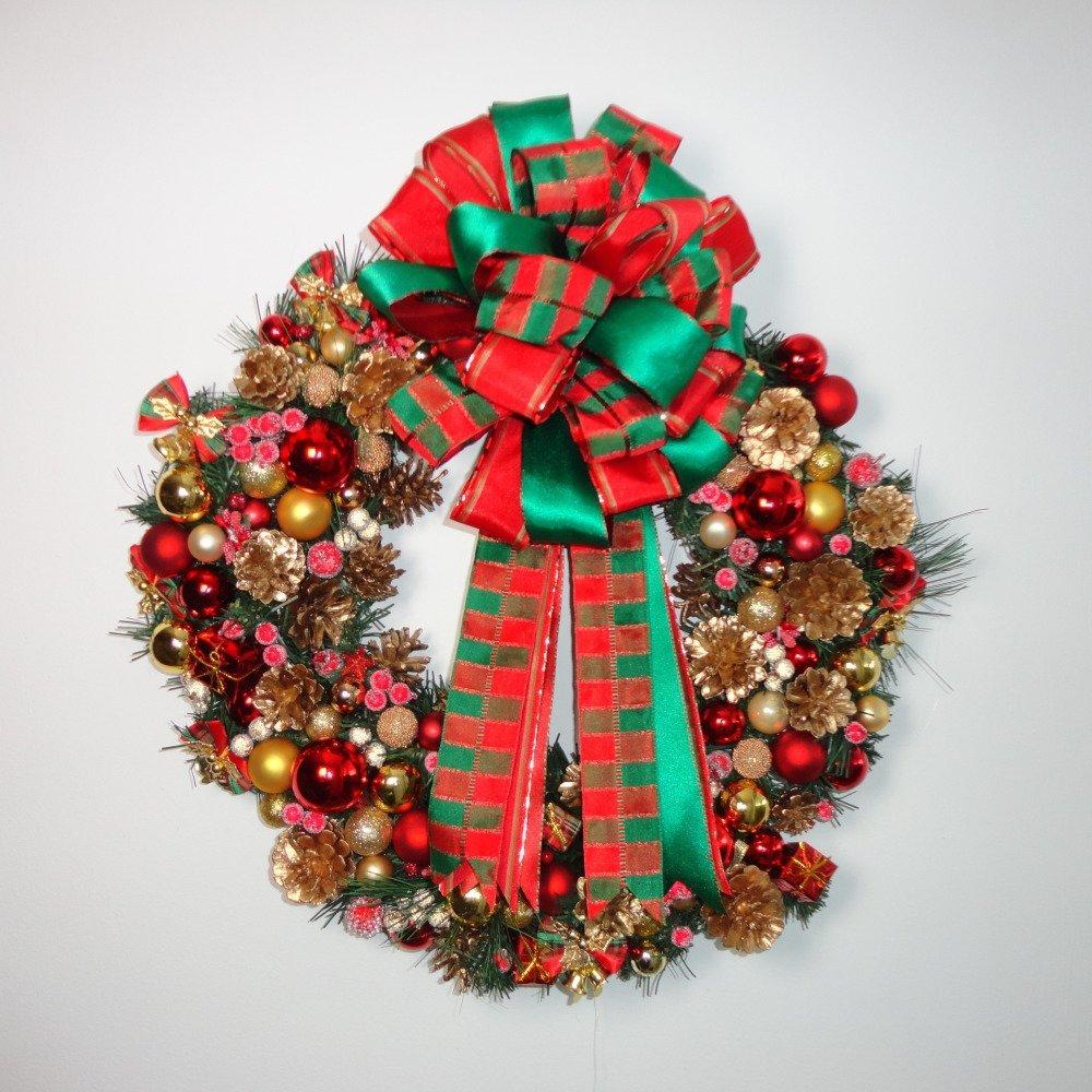 """Deco De Noel Originale """"scotty"""" couronne de noël originale. couronne de l'avent, décoration porte  d'entrée."""