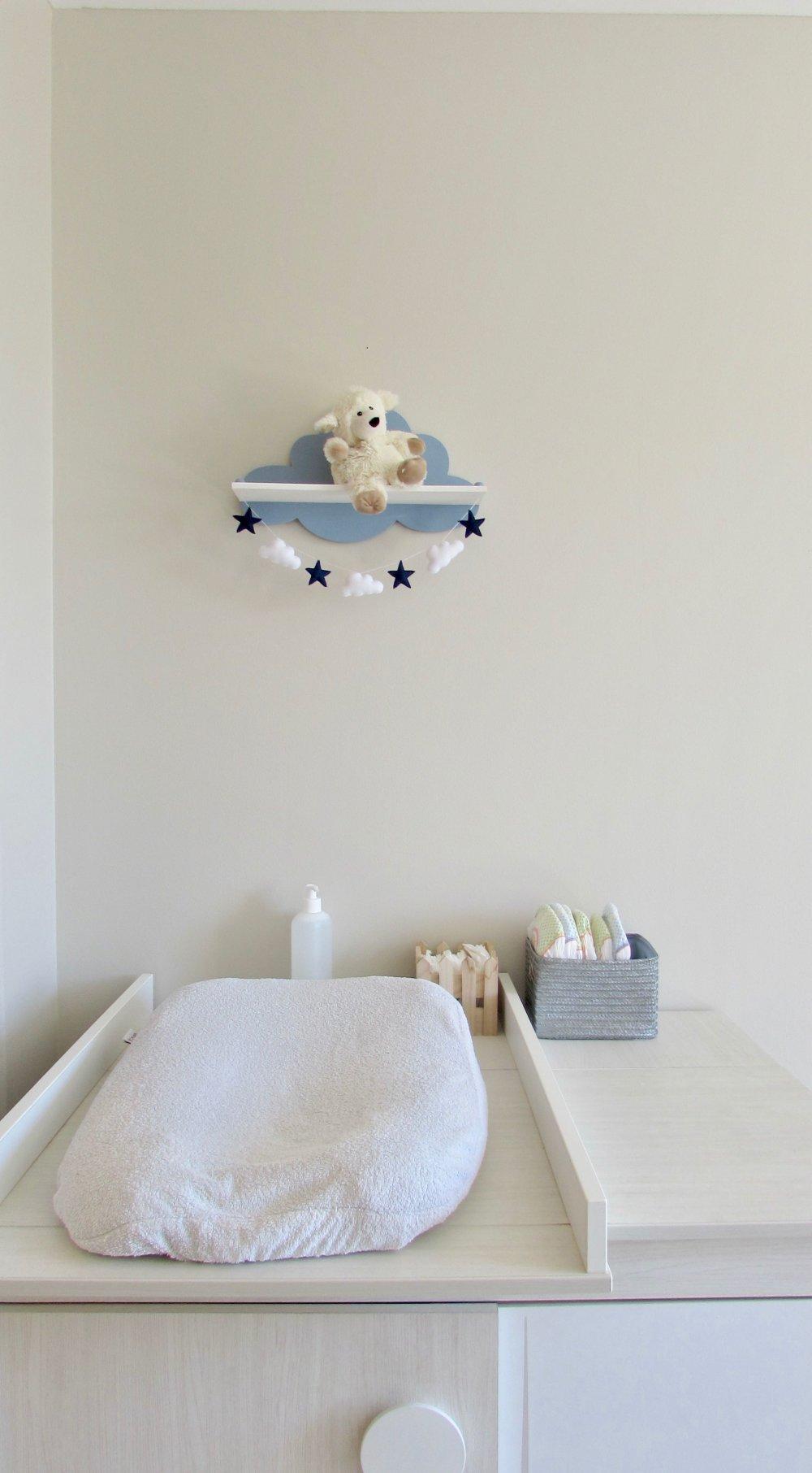 Étagère nuage bleue/ décoration chambre d'enfant