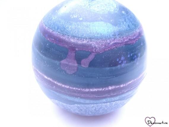"""Bougie sphere """"nina chardon"""" parfum fruité doux"""