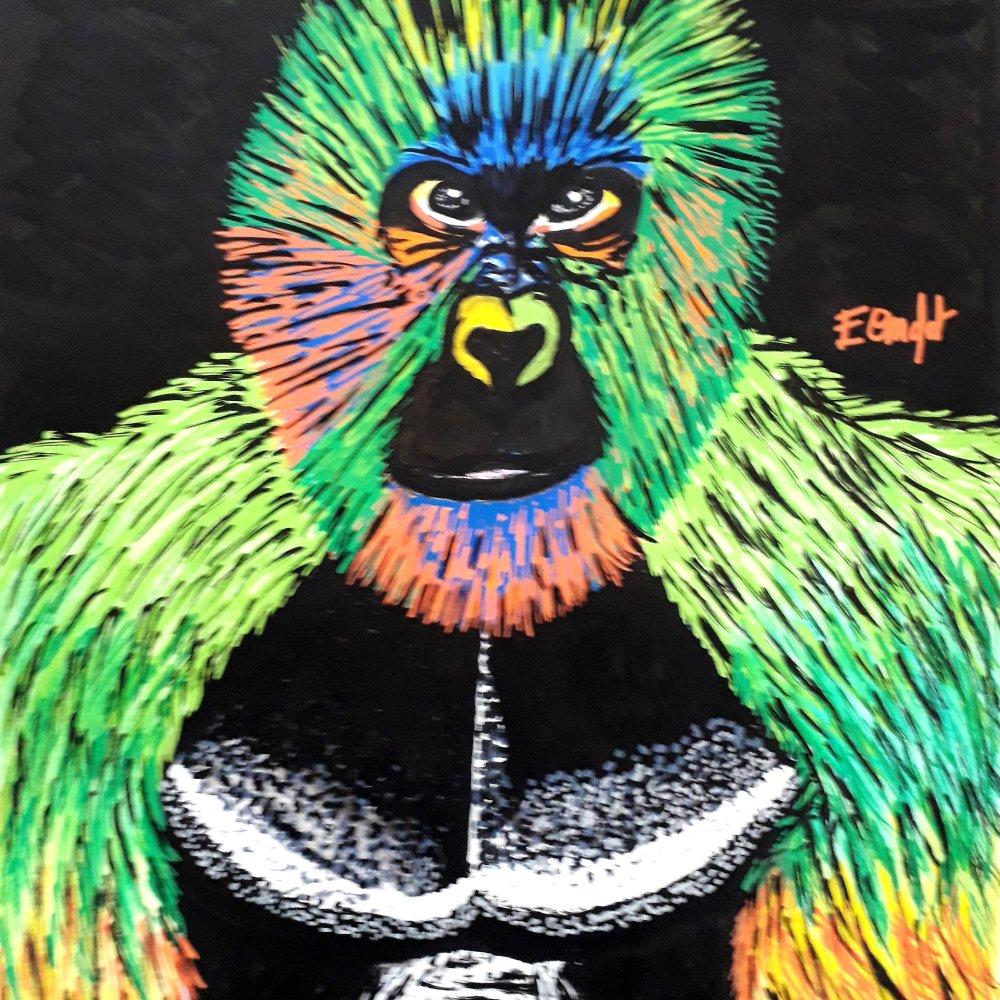 Dessin gorille pop art