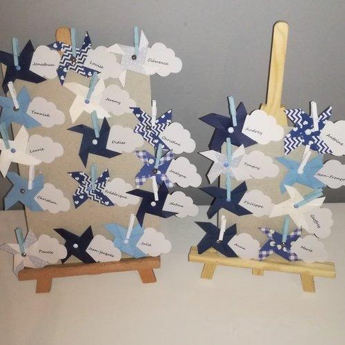 Marque place moulins à vent et nuages