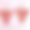 Boucles d'oreille triangle vieux rose, boucles d'oreilles triangle géométrique