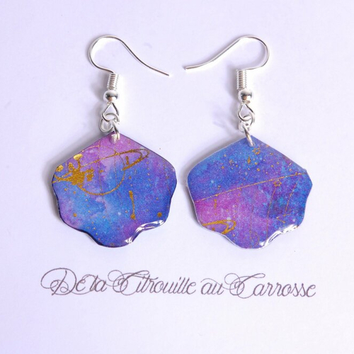 boucle d'oreille forme coquillage