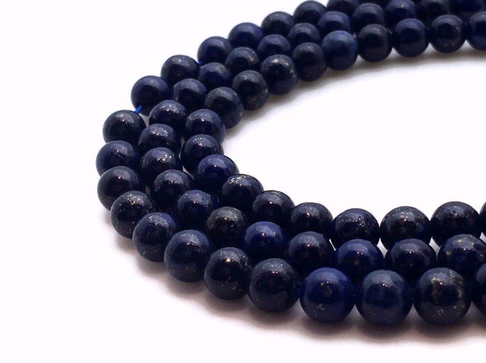 19 Perles lapis lazuli 10mm naturelles - P0463