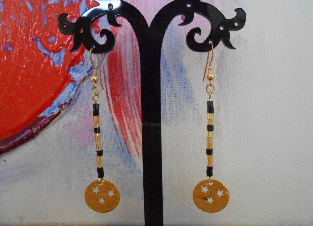 boucles d'oreille perles de verre délicas miyuki  neuf
