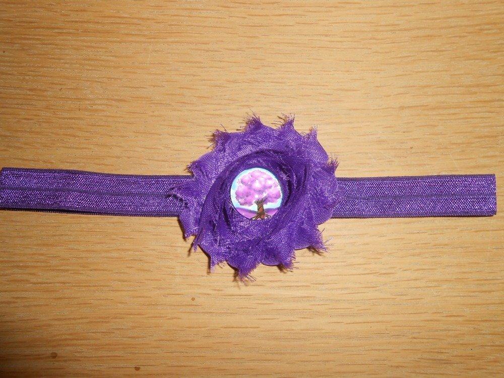 bandeau cheveux ton violet NEUF enfant