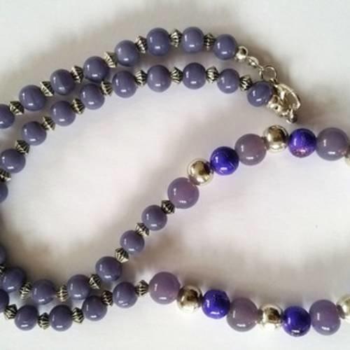 Vintage style rétro fleur et collier perle collier de perles