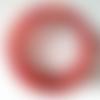 Bracelet ajustable 5 rangs fil mémoire en perles rocaille verre rouge clair irisé mauve doré