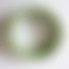 Bracelet  ajustable réglable 5 rangs perles rocaille verre nacré vert clair tilleul