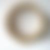 Bracelet ajustable perles de rocaille en verre doré nacré, bracelet 4 rangs