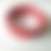 Bracelet ajustable perles de rocaille verre rose corail nacré, bracelet 5 rangs