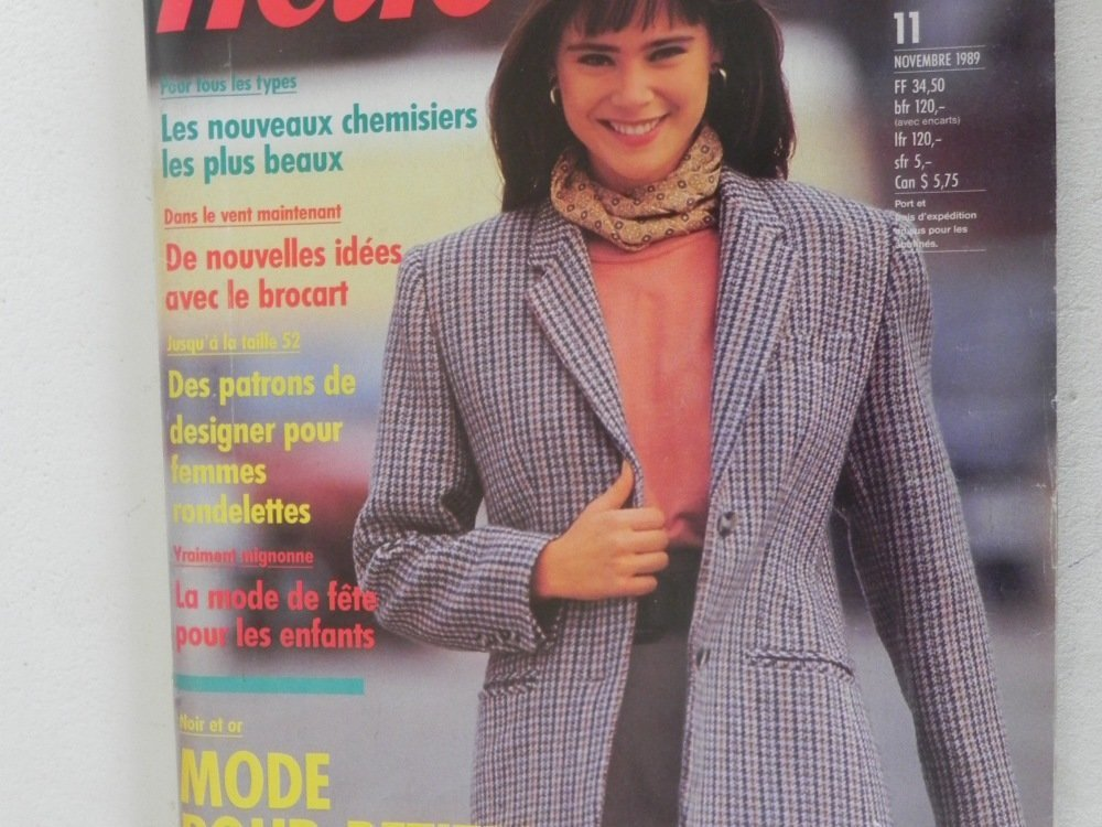 Magazine de couture Neue Mode novembre 1989