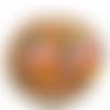 Boucles d'oreilles demi-cercle rose bleu et orange en pâte polymère, idée cadeau colorée et originale fait main en france