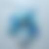 Guirlande de fanions porte photos 3m30- bleue