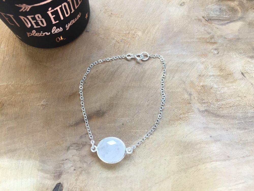 Bracelet pierre naturelle en argent 925