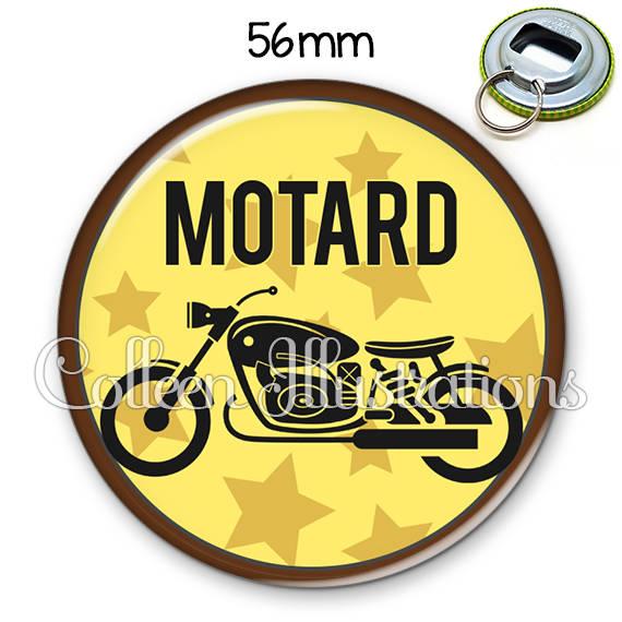 Décapsuleur porte-clés 56mm Motard 032JAU01