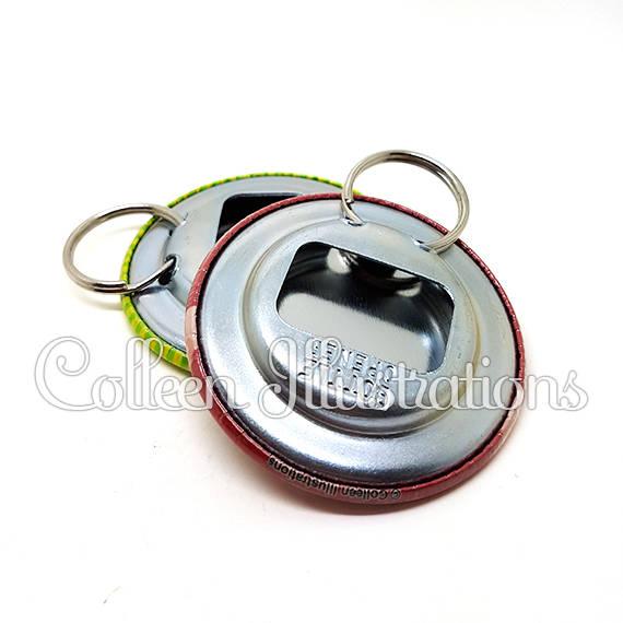 Décapsuleur porte-clés 56mm Bébé à bord 090BLE01