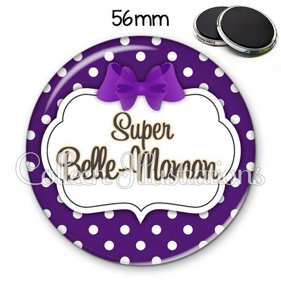 Magnet 56mm Super belle-maman 006VIO10