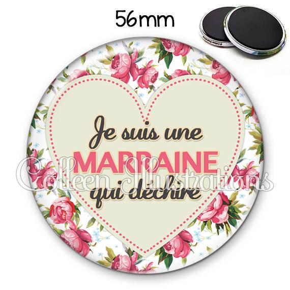 Magnet 56mm Marraine qui déchire 015MUL02