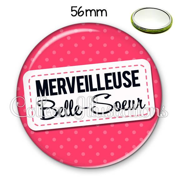 Miroir 56mm Belle-sœur merveilleuse 003ROS08
