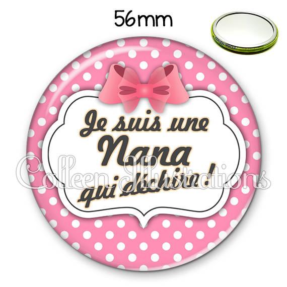 Miroir 56mm Nana qui déchire 006ROS02