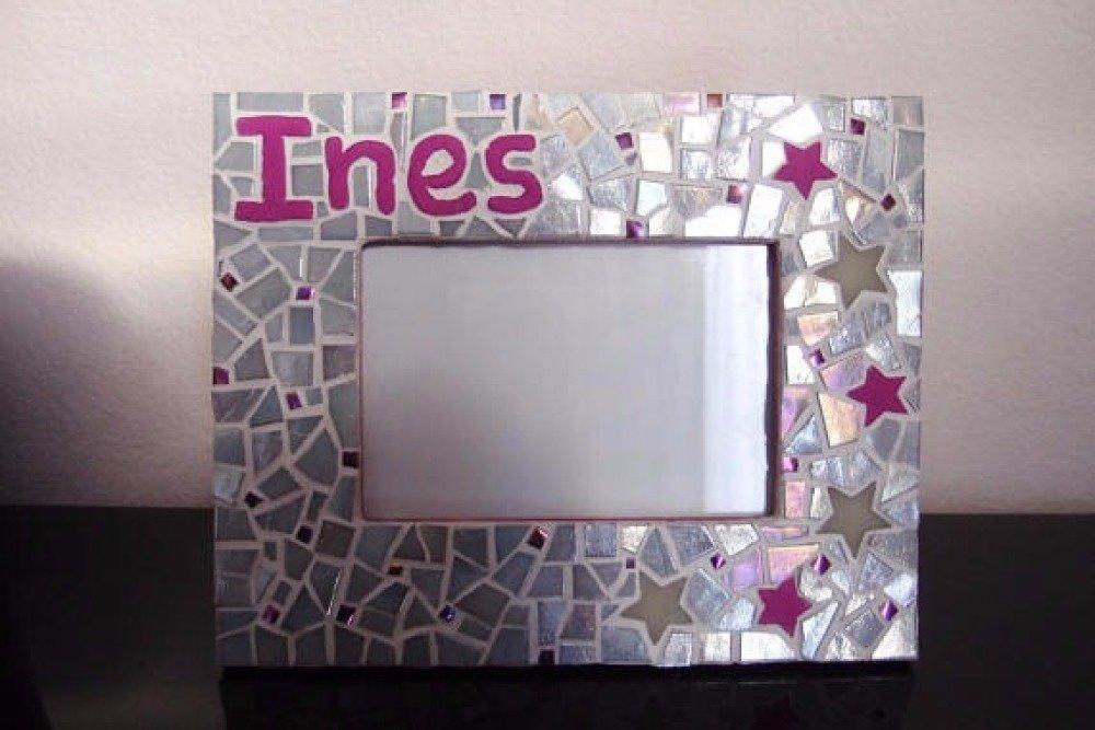SUR COMMANDE - Cadre photo en mosaique personnalisé prénom enfant - cadeau naissance enfant décoration personnalisée