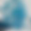 Lot de 30 gouttes en verre, bleues, à facettes, de 10 mm sur 5 mm.