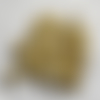 Lot de 25 perles en verre, jaunes, lampwork, , inclusion de petites fleurs, ø 12 mm.