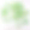 Lot 20 perles étoiles nacre et coquillage vert 12 mm
