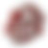 Lot 20 perles rondes 8 mm cristal facette de bohème rouge-argent