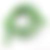 Lot de 25 perles nacre coquillage rondes 6 mm vert