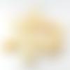 15 perles nacre coquillage 10 à 15 mm écru-ivoire