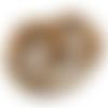 Lot de 25 perles nacre coquillage rondes 6 mm chocolat-cuivré