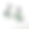 Superbe lot 2 pendentifs étoile-lune nacre et coquillage bleu-vert