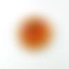 Superbe pendentif coquillage 28 mm cristal facettes ambre